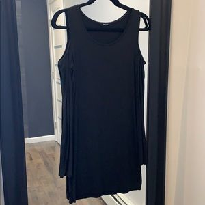 Black cotton bodycon dress